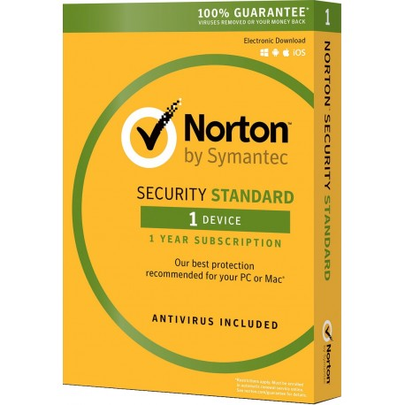 Norton Security Standard 1 device 1 year license