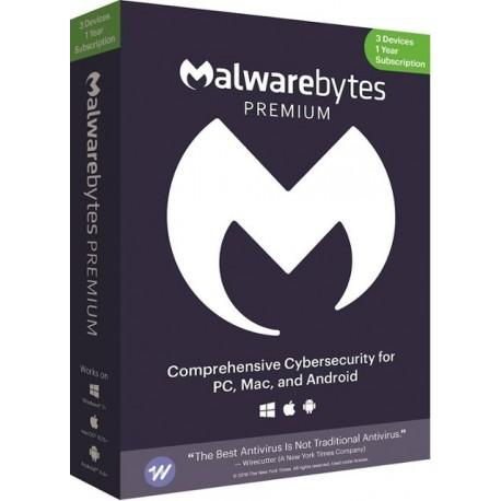 Malwarebytes Premium (3 Devices) 1 Year License