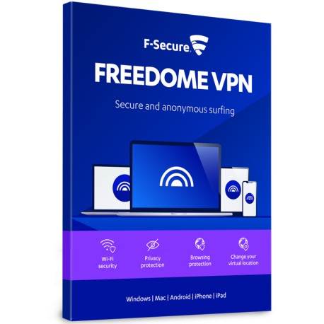 F-Secure Freedome VPN 3 Device 1 Year License