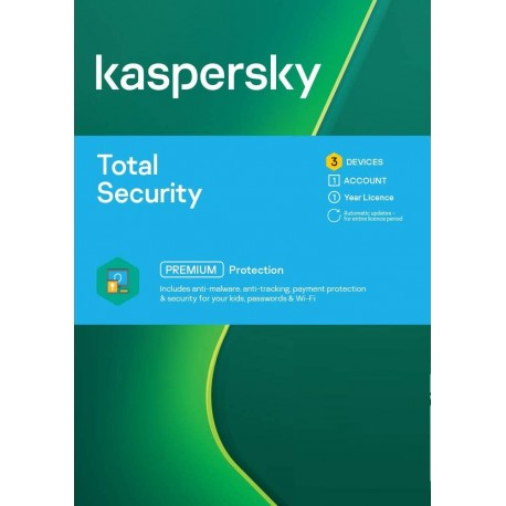 Kaspersky Total Security 3 Device 1 Year License