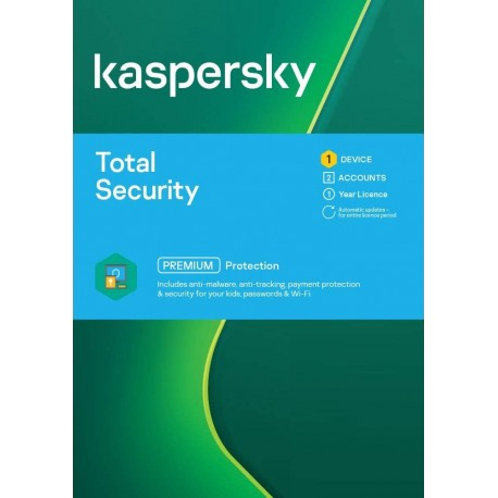 Kaspersky Total Security 1 Device 1 Year License