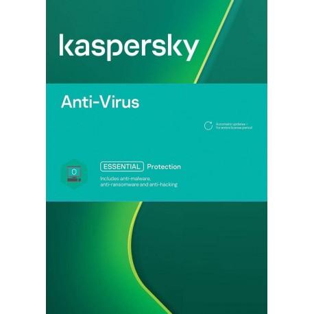 Kaspersky Antivirus 3 PC 1 Year License