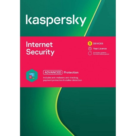 Kaspersky Internet Security 5 Devices 1 Year License
