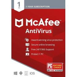 McAfee AntiVirus 1 PC for Windows License