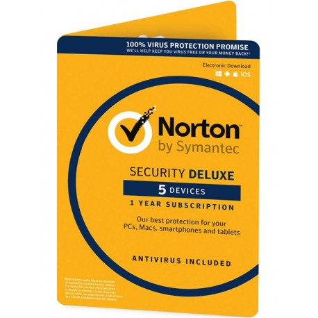 Norton Security Deluxe 5 device 1 year license