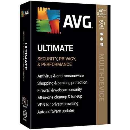 AVG Ultimate (10 Devices) 1 Year Digital License